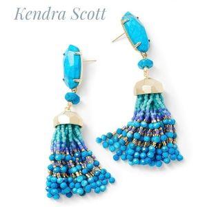 Kendra Scott Dove Statement Earrings Aqua Howlite